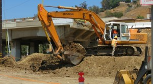 pre-construction photo bulldozer