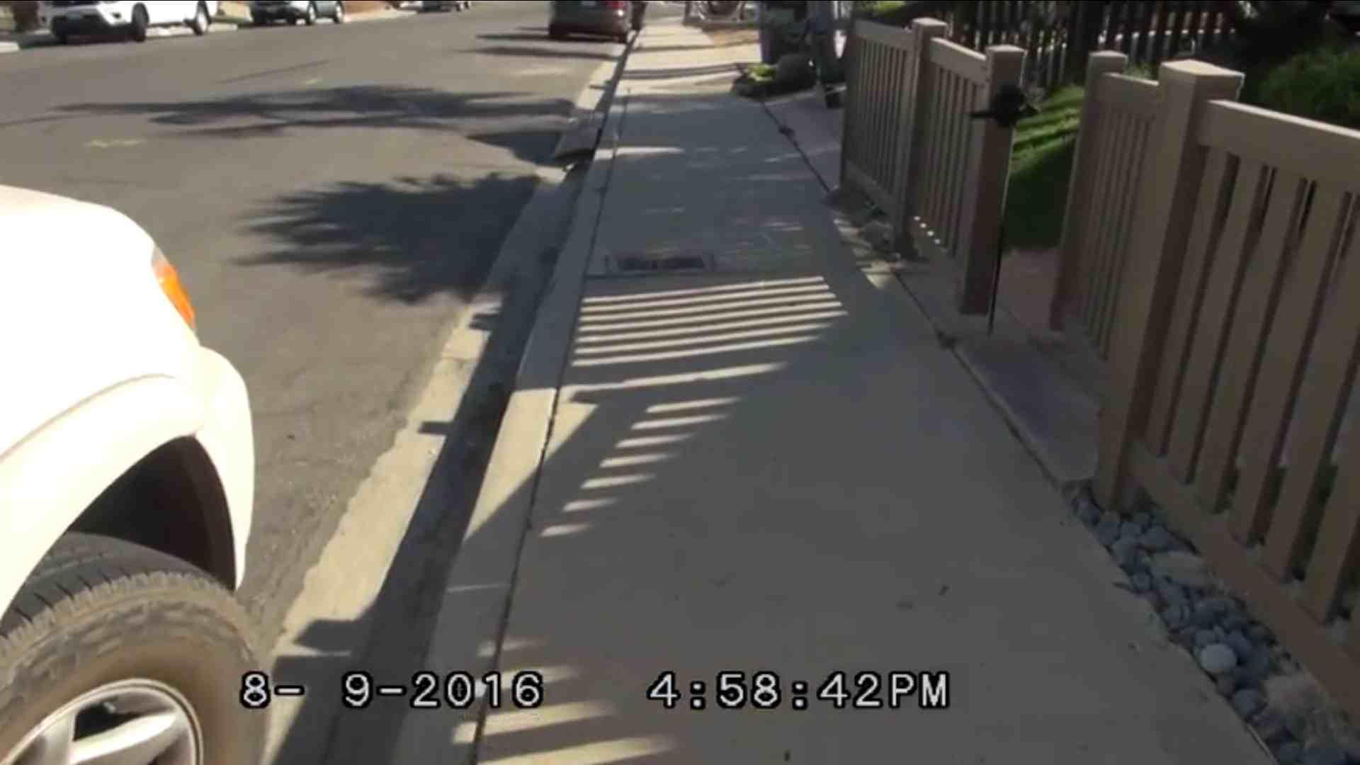 Walking - Road conditions, pre-construction video