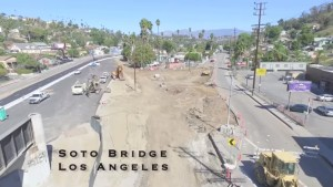 Soto Bridge Los Angeles Aerial Construction